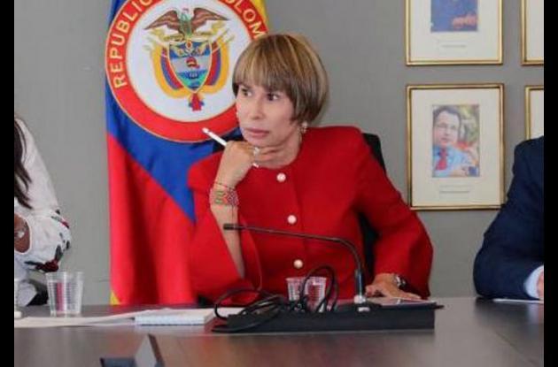 Alicia Arango, ministra de Trabajo.