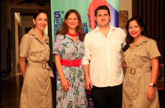 Catalina Cabra, Claudia Fadul, Eduardo Jasbón y Yuli Narváez./