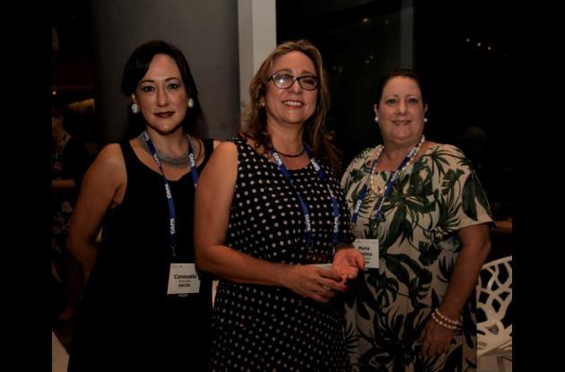 Consuelo Acevedo, Olga Lucía Botero y María Cristina Campuzano.