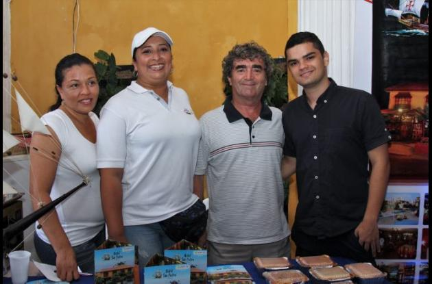 Dennis Forero, Alexandra Polo, Pietro y Nicolás Abbrescia.