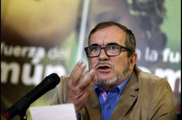 Rodrigo Londoño, líder de la Fuerza Alternativa Revolucionaria del Común (Farc).