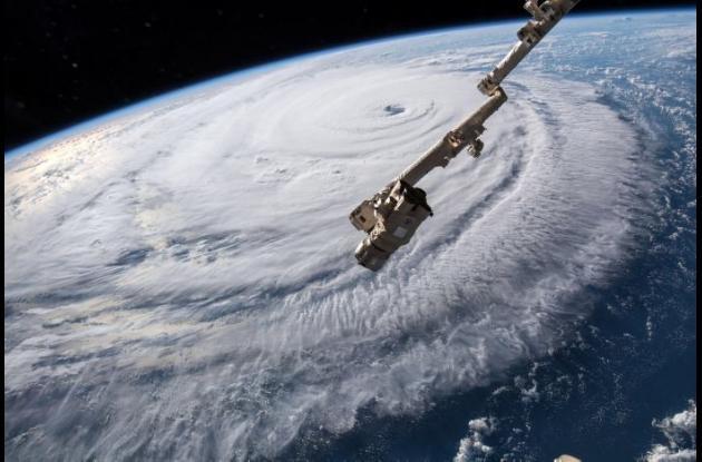 Vista del huracán Florence desde la NASA