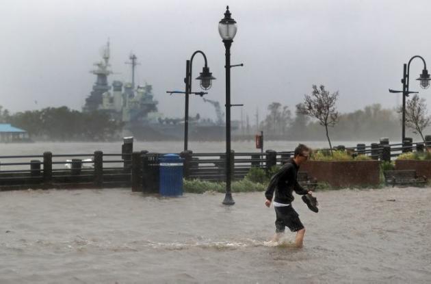 calles inundadas por Florence