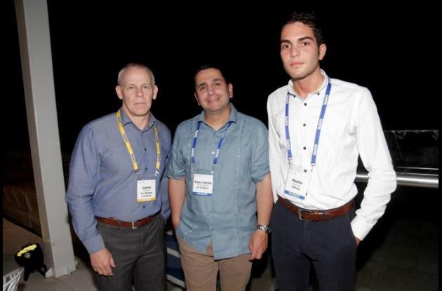 James McBride, Juan Carlos Mejía Cardona y Martín Restrepo.