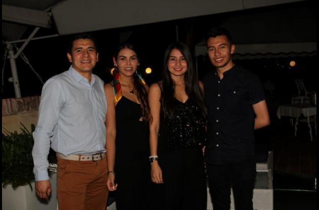 Jhon Alexander Murcia, Silvia Galvis López, Alexandra Martínez y Germán Marentes.
