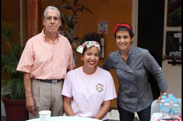 Jorge Camargo, Jenifer Cortés y Valerie Thuillier.