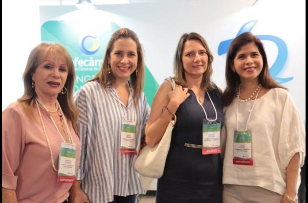 Marlene Cárdenas, María del Rosario Piñeres, Claudia Zuluaga y Julia Eva Pretelt.
