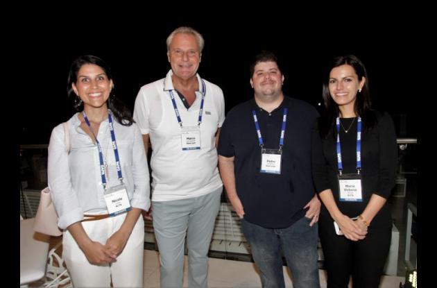 Nicole Lorca, Marco Van Ieperen, Pedro Gutiérrez y María Victoria Guiraud.