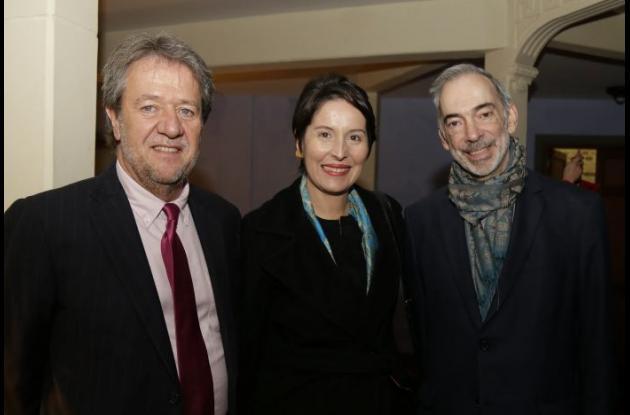Óscar Acevedo, María Claudia Parias y Manuel José Álvarez.