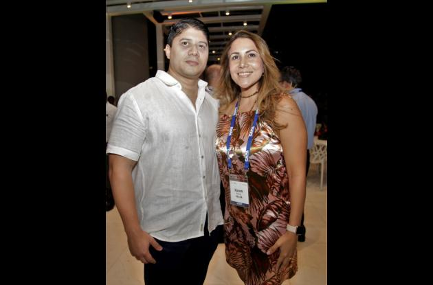 Pablo Mercado y Karen Bolívar.