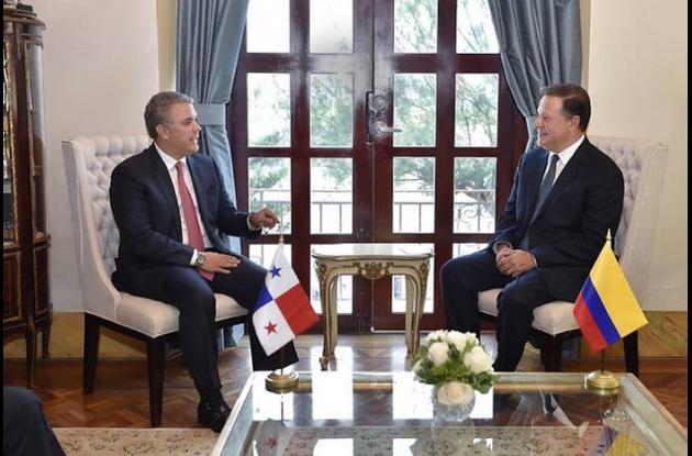 Presidentes de Panamá, Juan Carlos Varela, y de Colombia, Iván Duque.