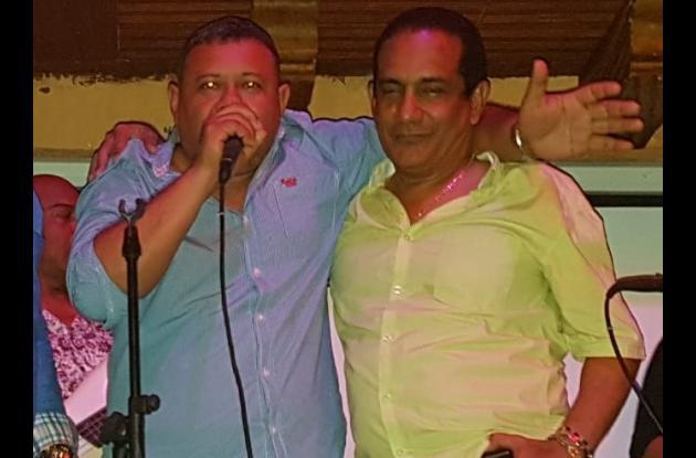 El cantautor Rafael Manjarrez, y el gestor cultural Dairo Romero