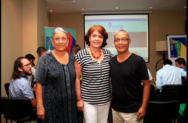 Rosa Díaz, Gladis Jasbón de Spicker y Warner Polo.