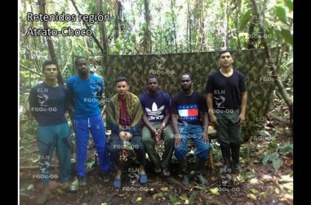 Seis hombres secuestrados por el ELN
