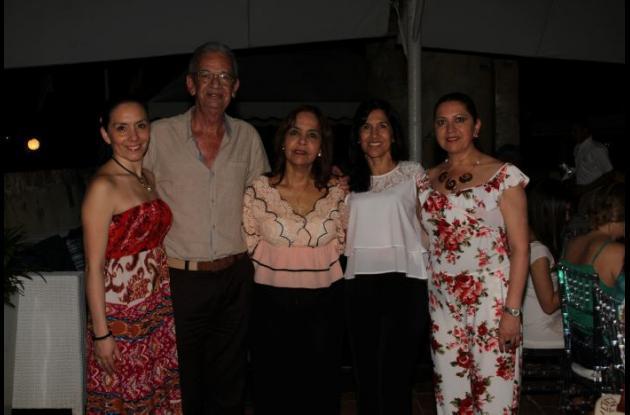 Vanessa Romero, José Luis Puello, Maruja Parra, Claudia Stapper y Marlen Rodríguez.