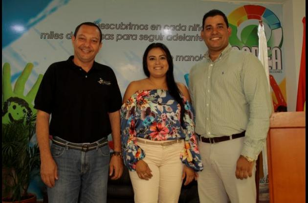 Alberto Vargas, Biceth Bermúdez y Jesús Torrado.