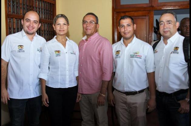 Alonso Del Río Junior, Verena Polo, Alonso Del Río, Javier Abuabara y Miguel Torres.