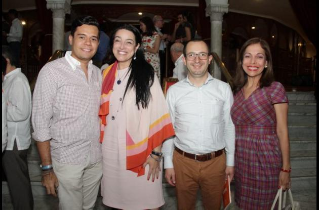 Andrés Rico, Sandra Fonseca, Javier Martínez y Fanny Guerrero.