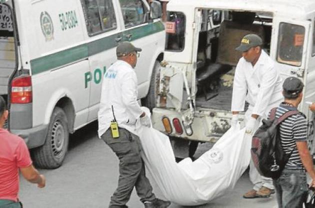 Levantamiento del cadáver de Orfelina Nieto.