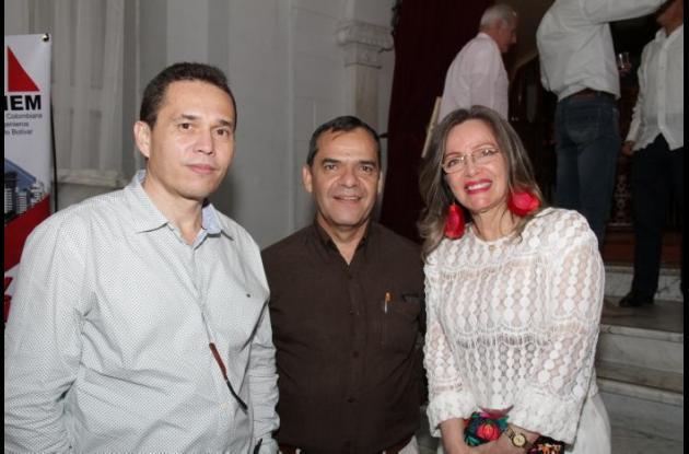 Carlos Cárdenas, Gerardo Rozo y Patricia Manjarrez.