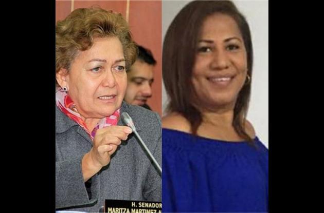 Daira Galvis, senadora de Cambio Radical y Patricia Zapata, alcaldesa de la Localidad 3.