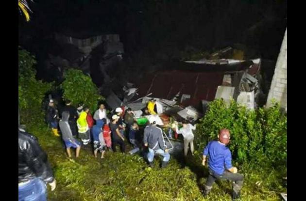 Deslizamiento de tierra en Marquetalia