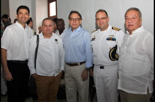Elkin Benavides, Ángel Casij, Mario Del Castillo, C.N. José David Espitia y Jorge Rodríguez.