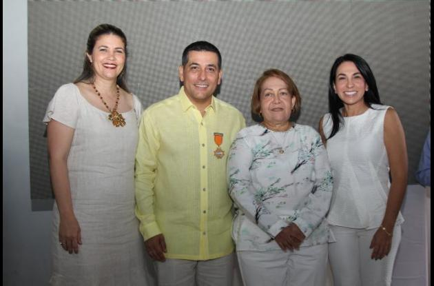 Esther María Jalilie, Dumek Turbay, Daira Galvis y Liliana Majana.