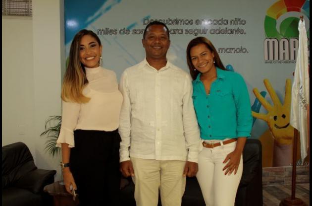 Francys Caballero Poveda, Álvaro Polo y Eileen Vitola.