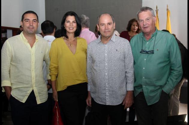 Hans Londoño, Sandra Borda, Gerardo Núñez y Hernán Piñeres.