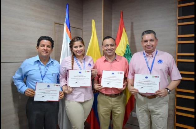 Johon Gutiérrez, Mary Calderón, Jairon Mendoza y Carlos Granadillo.