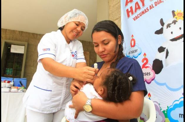 Jornada de vacunación para niños y niñas