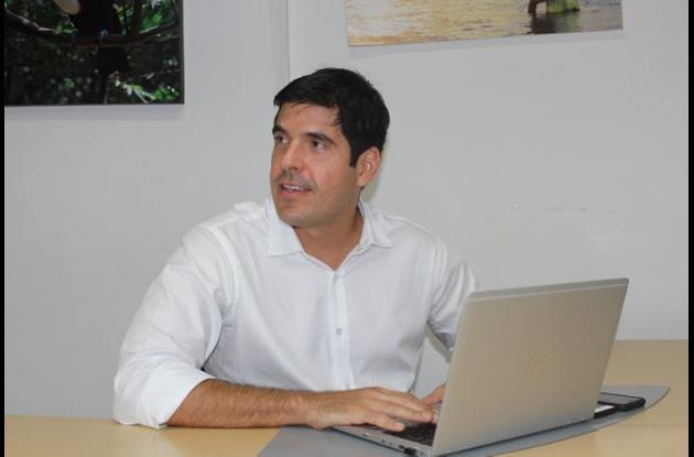 Juan Pablo Vélez, vicepresidente de competitividad de la Cámara de Comercio de Cartagena