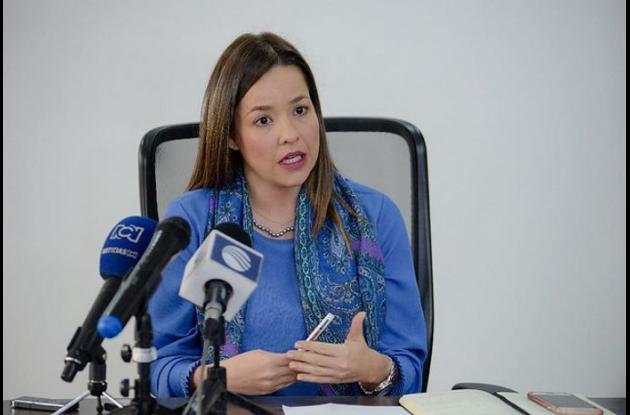 Viceministra de Comercio Exterior, Laura Valdivieso.