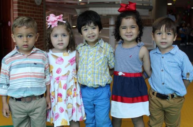 Martín Bermúdez, Aitana Herrera, Daniel Cely, Laura Gutiérrez y Martín Campos.