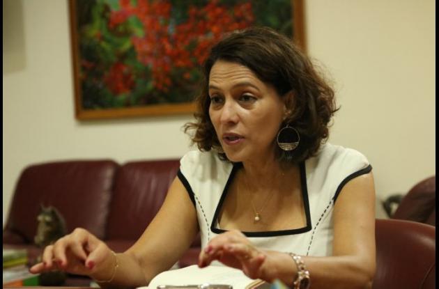 Nancy Patricia Gutiérrez Castañeda, ministra del Interior.