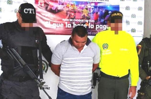 Moisés Alean Peñate, capturado.