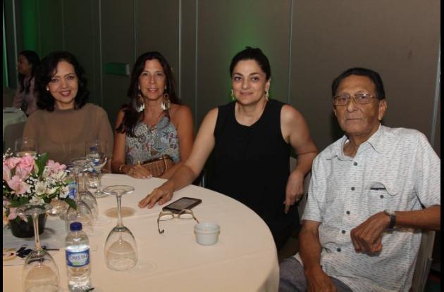 Nohora de Ayola, Mónica de Espinosa, Mónica Fadul y Carmelo Cuesta.