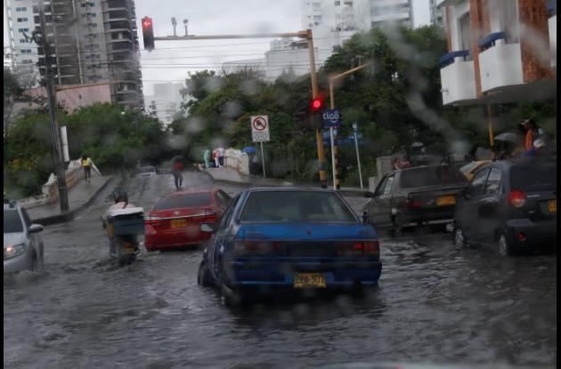 Caos por lluvia en Cartagena