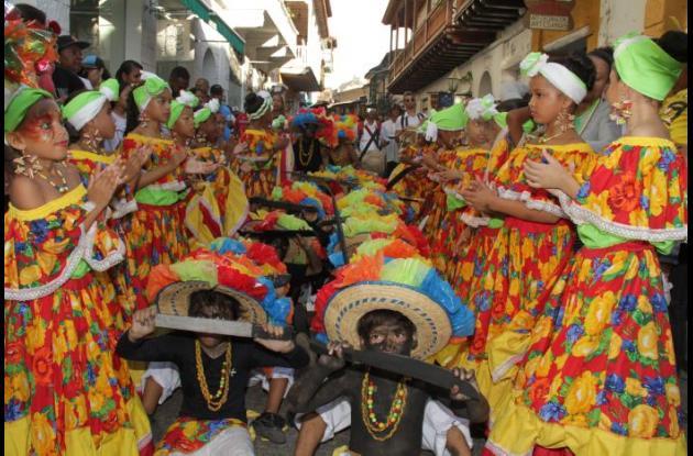 Danza negritos de la Escuela Superior Normal de Cartagena