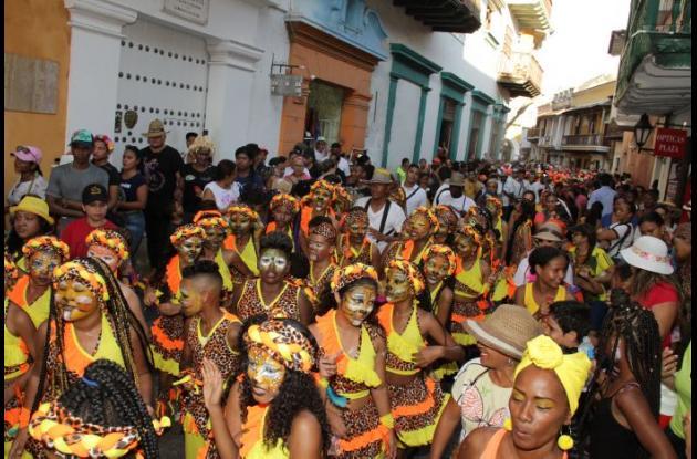 Los niños en las danzas de la Escuela Superior Normal de Cartagena