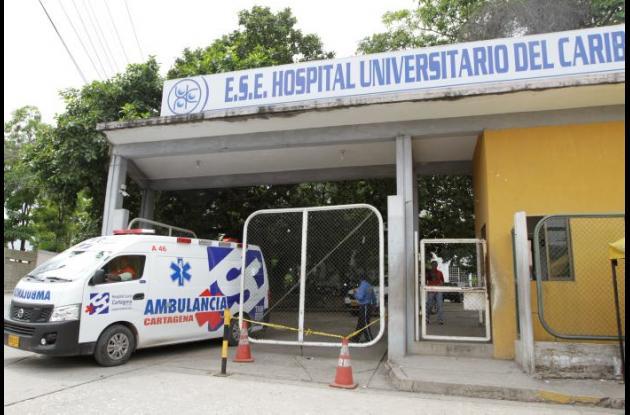 Fachada del Hospital Universitario de Cartagena HUC
