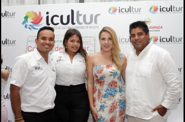 Fredy Martínez, Lila Mouthón, Carolina De Pombo y Elías Barrios.