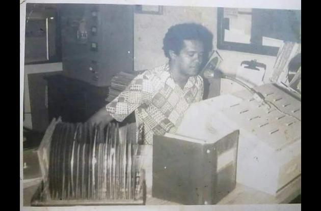 Mañe Vargas en sus inicios en la radio.