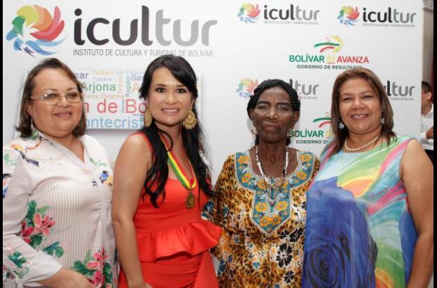 Nubia Quevedo, Lucy Espinosa, Ceferina Banquez y María Bernarda Palomino.