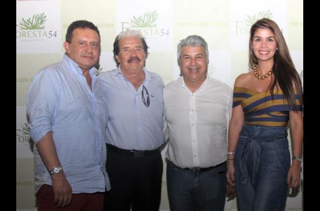 Óscar Ramírez, Jaime Ramírez, Darío Quintero y Jessica Velásquez.