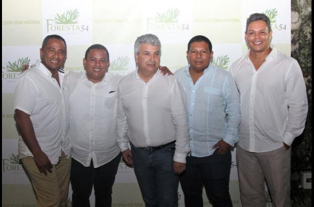 Roxby Ochoa, Johny Suárez, Darío Quintero y Oswaldo Guzmán.