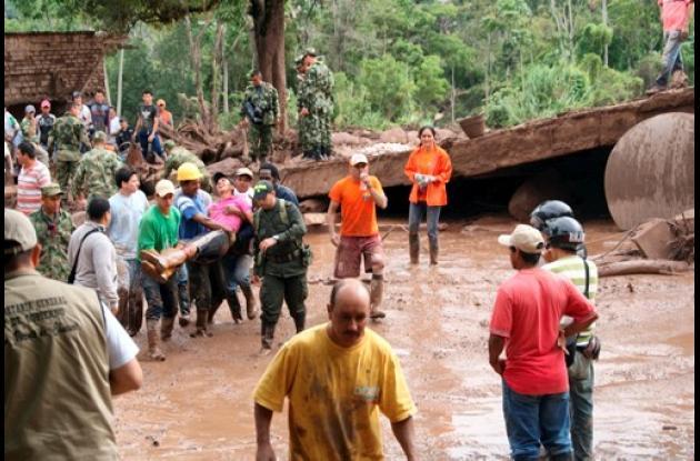 Víctimas por alud en San Vicente de Chucurí