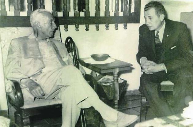 Joaquín Franco Burgos con Laureano Gómez.