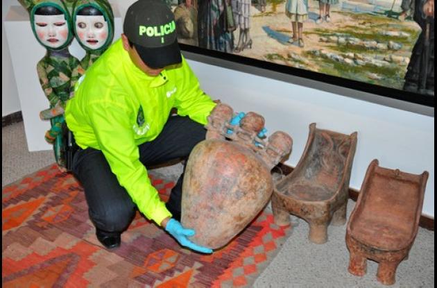Piezas arqueológicas recuperadas